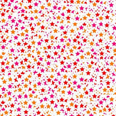 Star template containing random shapes for christmas concept