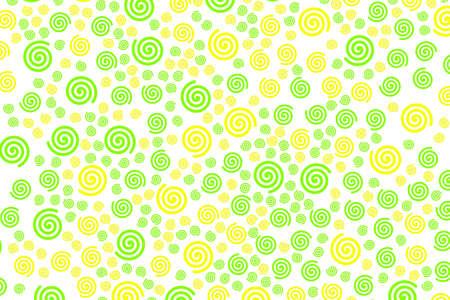 スパイラルの背景は、モダンなデザインのランダムな粒子を含みます。