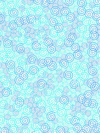 Curl texture containing random shapes for modern illustration. Stock Photo