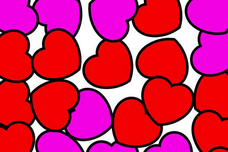 Abstract shapes for Saint Valentines holiday, high definition backdrop