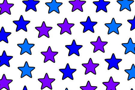 Star pattern containing many elements . new year design