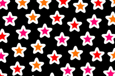 Star pattern based on random particles for your new year backdrop Foto de archivo