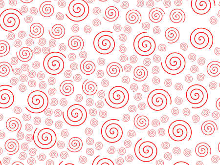 Curl pattern with many shapes for high definition illustration.