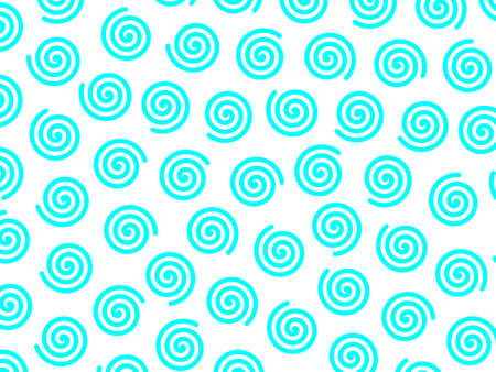 Curl pattern containing multiple shapes for high resolution concept.
