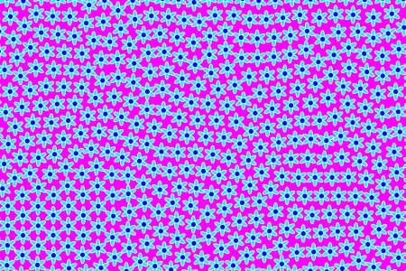 Geometric pattern based on blooming flowers. Sympathy illustration. Stock Photo