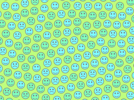 Messenger design. Chaotic pattern. Assembly containing amusing faces.