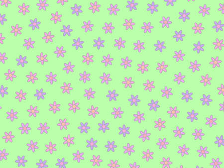 Spring pattern composed of multiple chamomile. Fondness decoration.