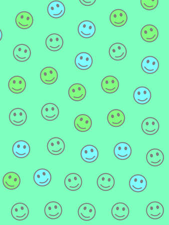 Web illustration. Irregular pattern. Community based on many smileys. Stock Photo