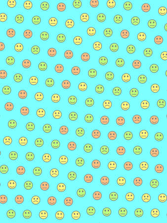 People concept. Beautiful template. Message including many smileys.