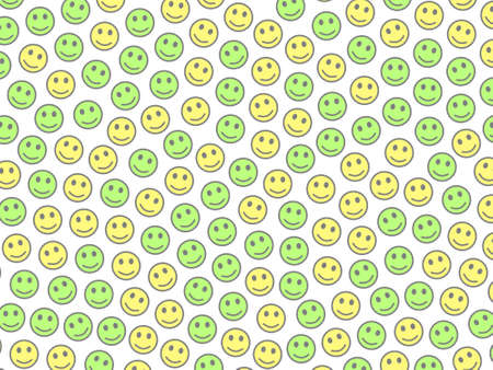 Web backdrop. Irregular pattern. World comprising multiple smileys.