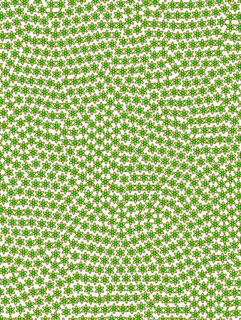 Geometric lawn with many doronicum. Leaning decoration. Stock Photo