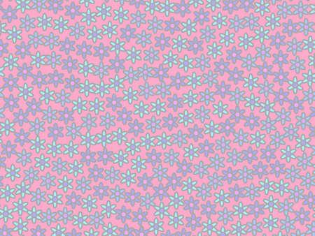 Geometric vista including random tripleurospermum. Liking decoration. Reklamní fotografie