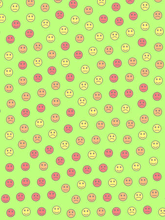 Communication backdrop. Flat texture. Group with comic smileys.