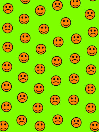 Entertainment illustration. Simple texture. Throng with random emotions. Stock Photo