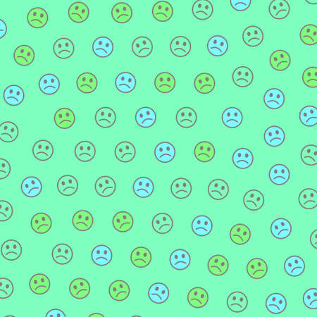 Internet concept. Party pattern. Assembly based on smart smileys.