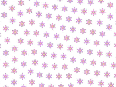 Romantic grassland including many flowers. Affectivity illustration. Stock Photo