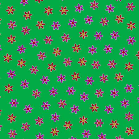 Chaotic grass containing random chrysanthemum. Fondness illustration.