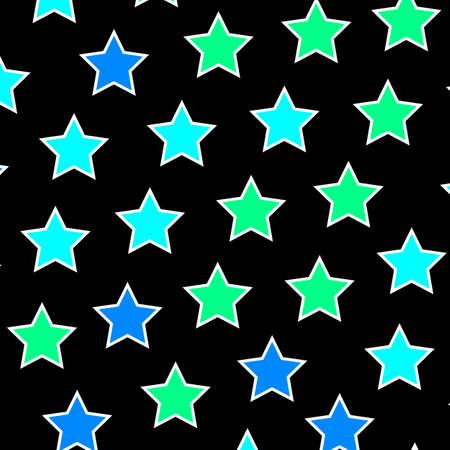 Star template based on multiple shapes for high definition illustration