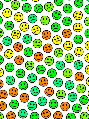 Internet backdrop. Abstract texture. Throng composed of funny smileys.