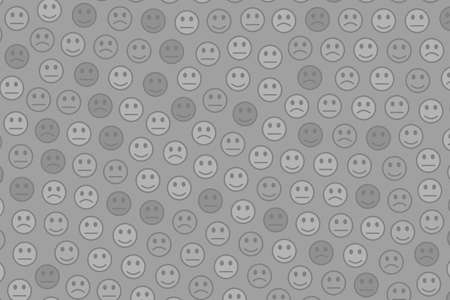 Life theme. Chaotic template. Association with amusing smileys.