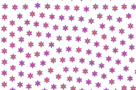 Spring texture comprising blooming matricaria. Affectivity illustration.