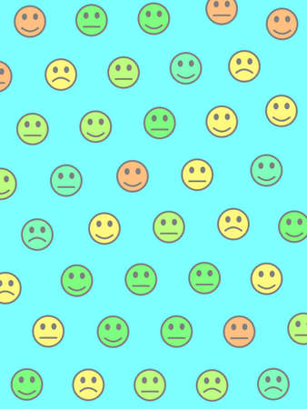Society concept. Flat pattern. Crowd based on funny smileys.
