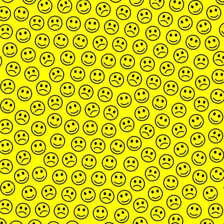 Net design. Creative texture. Folk comprising amusing faces.