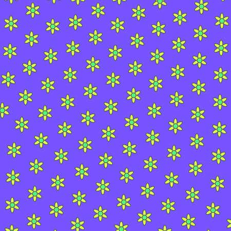 Flat template including blossoming chamomile. Fondness illustration. Фото со стока