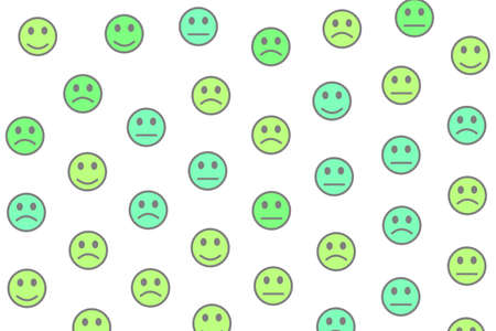 System design. Holiday pattern. Community containing funny smileys.