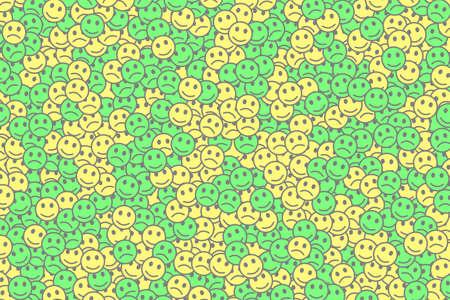 Internet theme. Geometric pattern. Throng composed of random feelings.