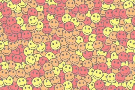 Society illustration. High definition pattern. Community composed of random emotions.