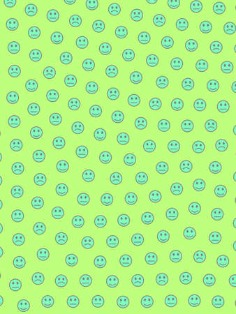 Communication theme. Creative pattern. Crowd with amusing smileys.