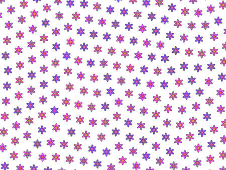 Holiday field containing blooming flowers. Delicacy design.
