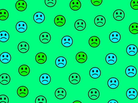 System decoration. Abstract texture. Company with funny smileys.