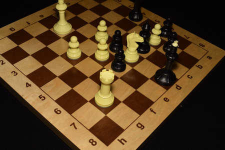 Chess board under the pawns like a game background