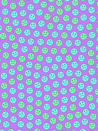 Life design. Simple pattern. Message containing funny moods.