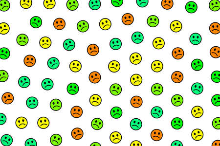 Life illustration. Chaotic pattern. Intercommunion including amusing feelings.