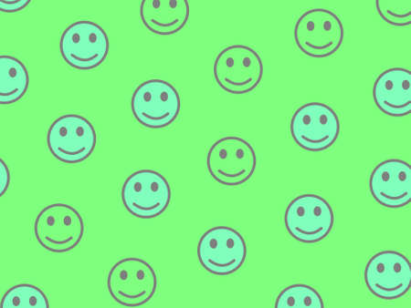 Network theme. Abstract pattern. Community composed of many smileys.