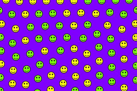 Cooperation theme. Geometric pattern. World with random smileys.