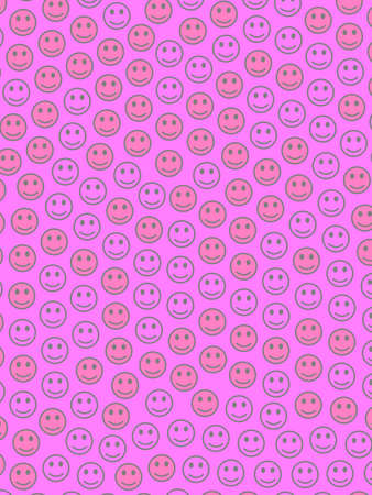 Life illustration. Flat texture. Crowd containing smart smileys.