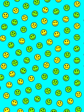 Interplay design. Flat backgrounds. Institution based on random smileys. Banco de Imagens