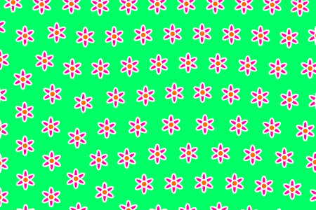 Abstract pattern and multiple flowers. Feeling backdrop. Stock Photo