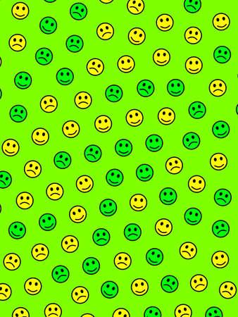 Messenger illustration. High definition template. Institution comprising multiple emotions.