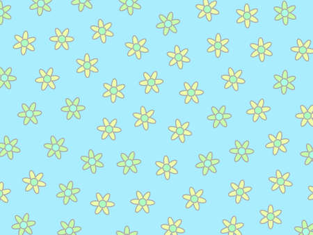 Party pattern based on blooming aster. Sympathy illustration.