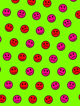 Web illustration. Flat backdrounds. Association comprising many emotions.