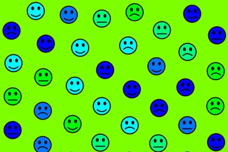 Network decoration. Flat pattern. World comprising multiple moods.