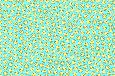 Network backdrop. Party pattern. Gathering composed of funny spirits.