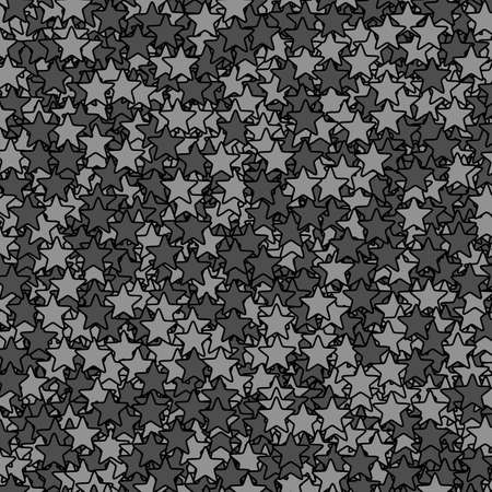 Star texture with multiple elements for new year illustration