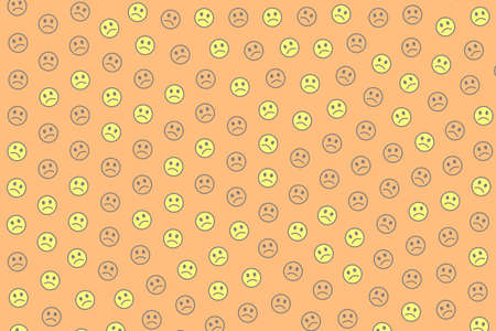 Communication concept. Party pattern. Throng comprising comic smileys.