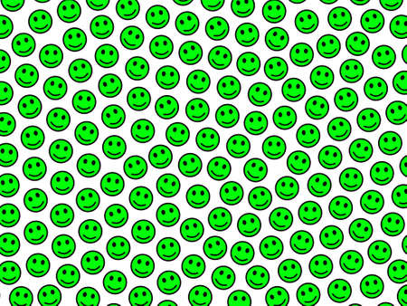 Network illustration. Chaotic pattern. Folk including smart smileys.
